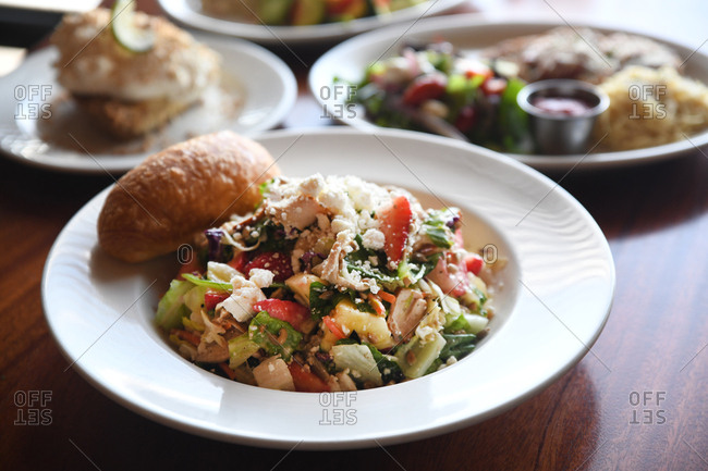 Chicken salad and bread