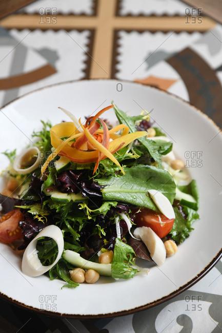 Close up of a healthy salad