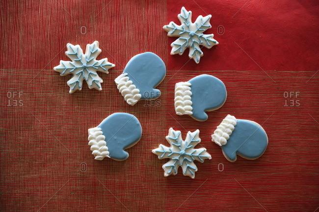 Winter sugar cookies