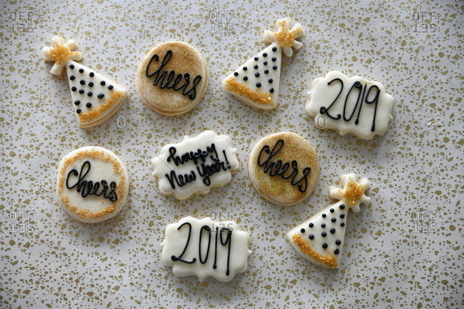 New Year sugar cookies