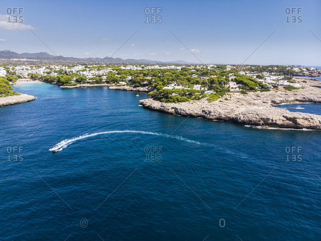 Spain-  Balearic Islands- Mallorca- Coast of Cala d'or and bay Cala Ferrera