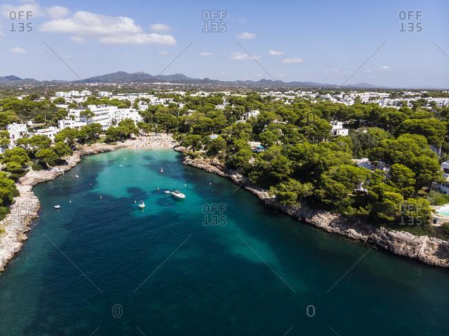 Spain-  Balearic Islands- Mallorca- Coast of Cala d'or and bay Cala Ferrera