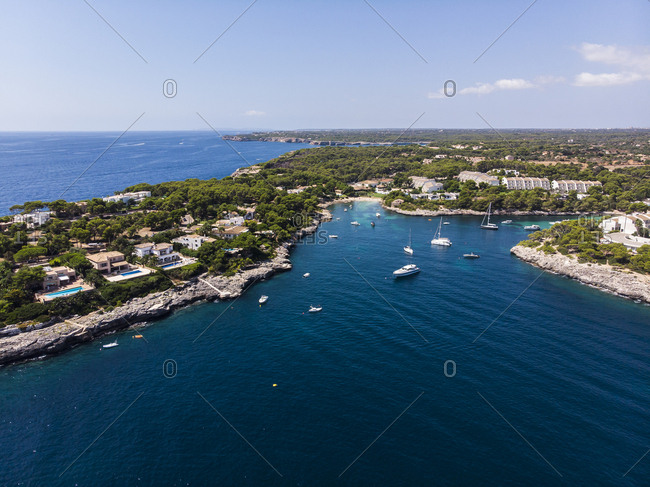 Spain- Balearic Islands- Mallorca- Region Cala d'Or- Coast of Porto Petro