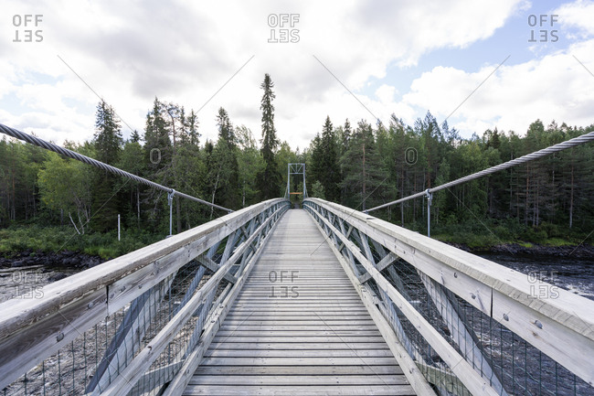 Finland- Vikakongas- Suspension bridge