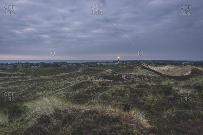 Germany- Schleswig-Holstein- Sylt- Kampen- view from Uwe dune to lighthouse
