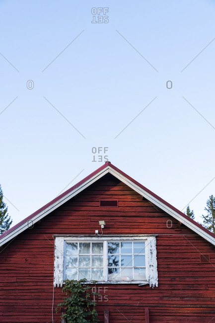 Finland- Close-up of a typically finish wood house