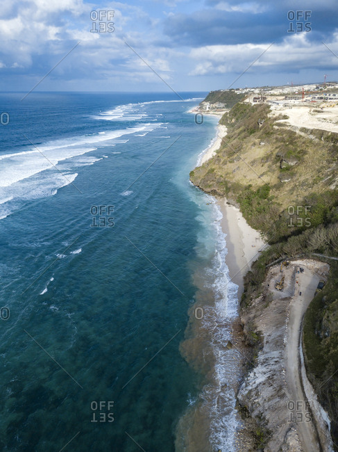 Indonesia- Bali- Aerial view of Payung beach