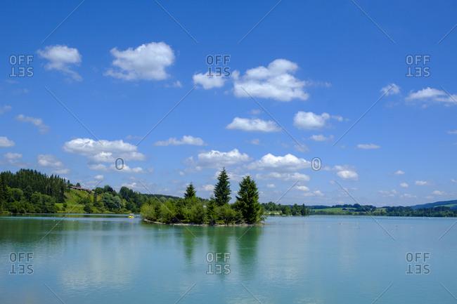 Germany- Bavaria- East Allgaeu- Lech reservoir