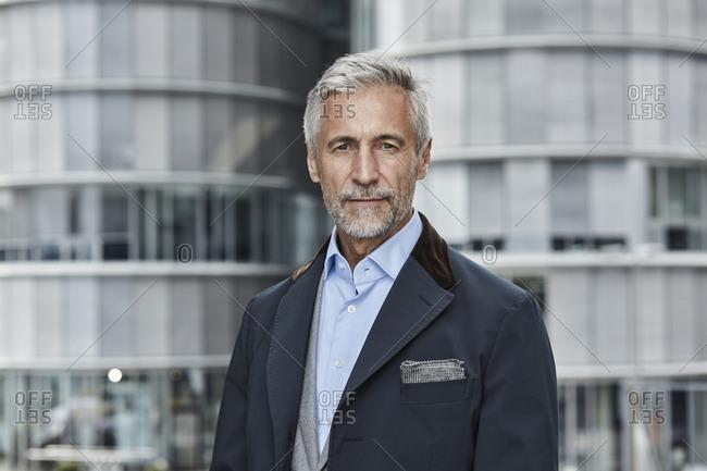 Germany- Duesseldorf- portrait of fashionable mature businessman