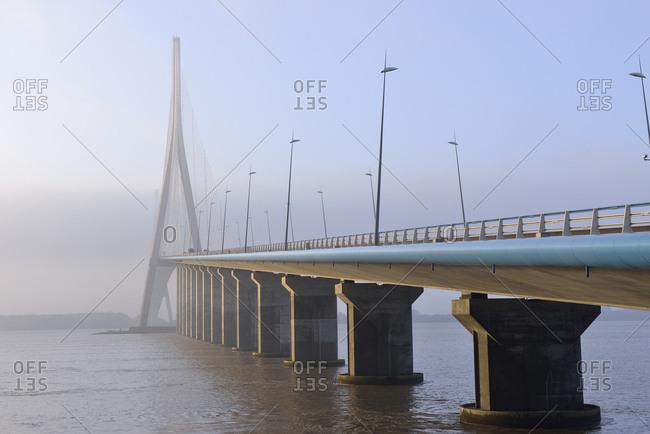 France- Le Havre- Pont de Normandie in morning mist