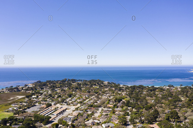 Aerial view of Carmel by the Sea