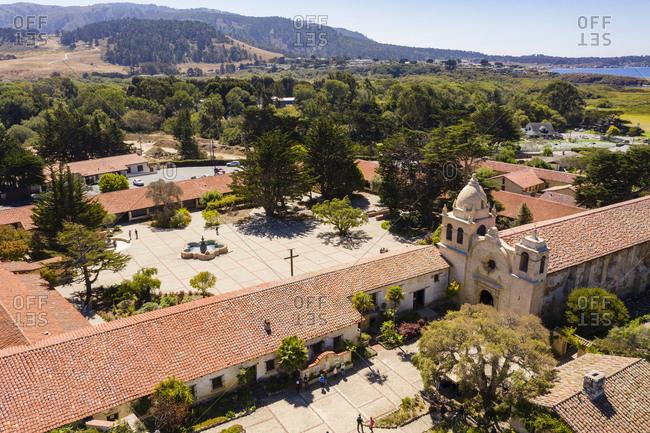 Carmel mission Basilica museum in California