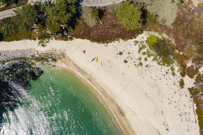 Aerial view of beach in Carmel California