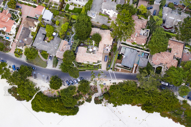 Overhead view of Carmel California