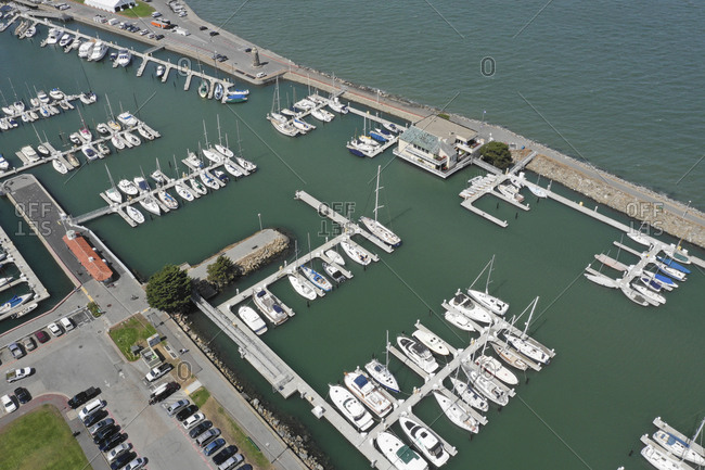 Overhead view of Fisherman's Wharf