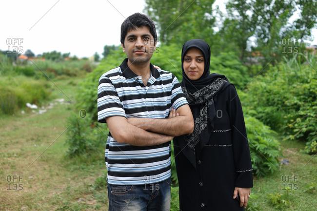 Muslim couple outdoors