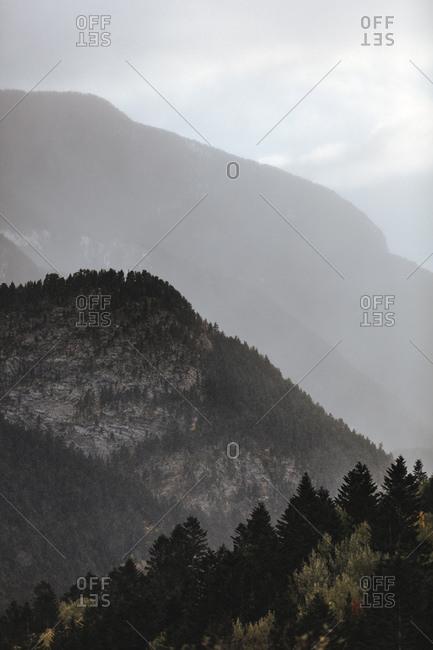 Haze over mountains