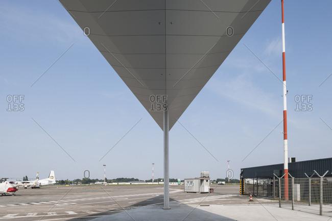 Antwerp, Belgium - August 13, 2015: Airport terminal in Antwerp by CBA
