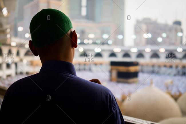 Mecca, Saudi Arabia - September 1, 2018: Muslim people are praying in Hajj