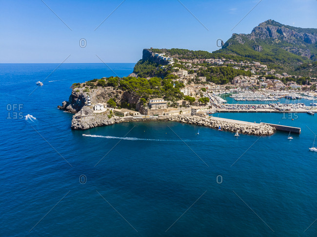 Spain- Balearic Islands- Mallorca- Serra de Tramuntana- Port de Soller