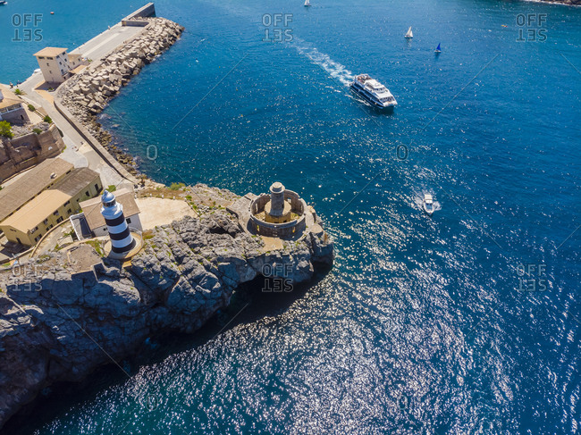 Spain- Balearic Islands- Mallorca- Serra de Tramuntana- Port de Soller