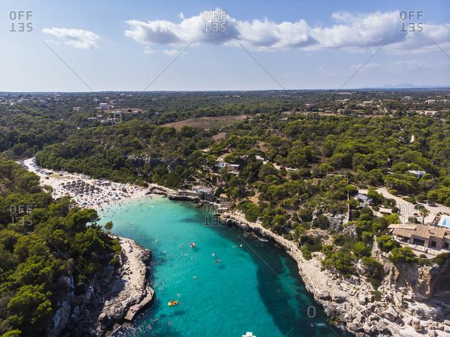 Spain- Balearic Islands- Mallorca- Aerial view of Cala Llombards