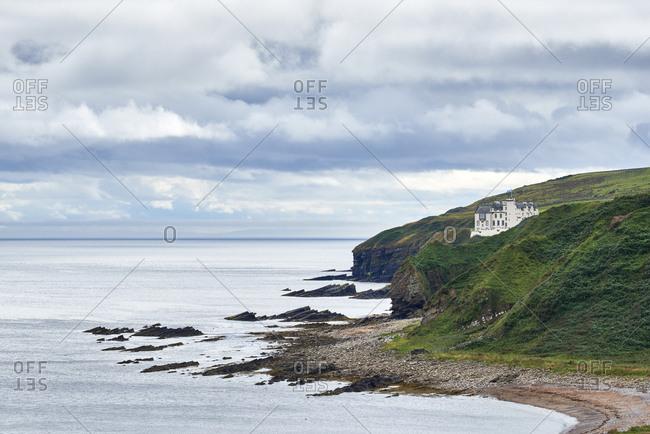 Great Britain- Scotland- Caithness- Dunbeath Castle