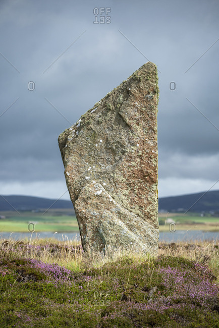 Great Britain- Scotland- Orkney- Mainland- Ring of Brodgar- neolithic stone circle- stone