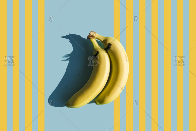 3D Rendering- bananas with fake eyelashes