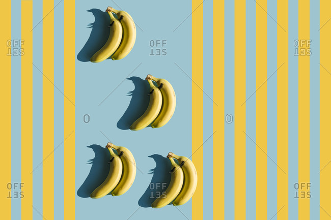 3D Rendering- bananas with fake eyelashes and a couple backwards composition