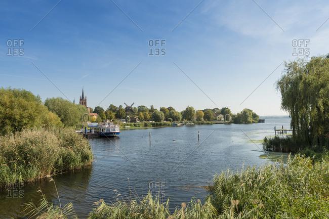September 30, 2017: Germany- Brandenburg- Werder- southern part of Havel between Werder and Werder Island
