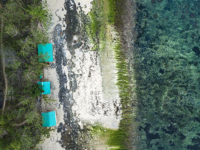 Indonesia- Bali- Padang- Aerial view of Thomas beach