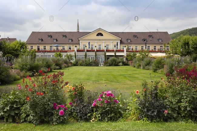 July 12, 2018: Germany- Rhineland-Palatinate- Bad Duerkheim- spa park and casino