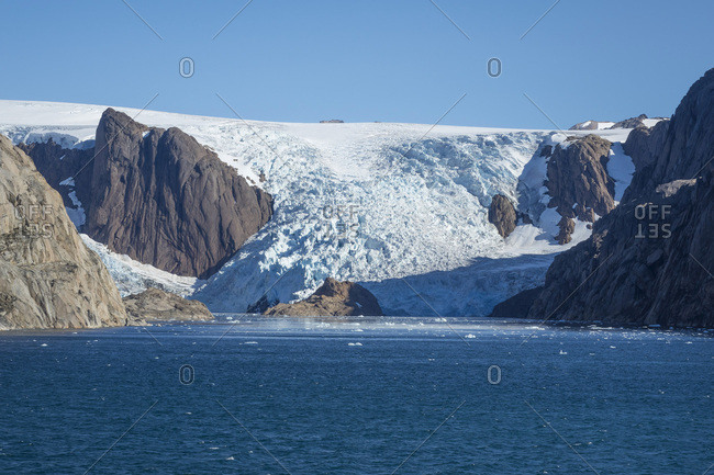Glacier, Prince Christian Sound, southern Greenland, Polar Regions