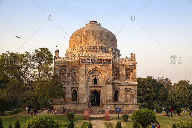 November 26, 2012: Shish Gumbad Tomb, Lodi Gardens, New Delhi, Delhi, India, Asia