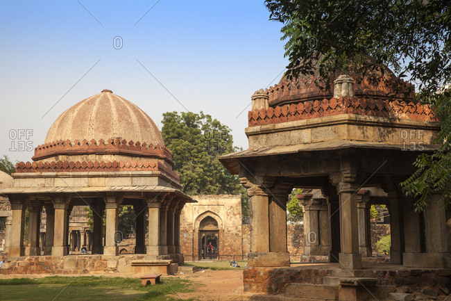 November 17, 2012: Tuglaq Tombs, Hauz Khas, Delhi, India, Asia