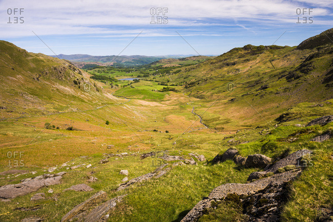 Hardknott Pass, Lake District National Park, UNESCO World Heritage Site, Cumbria, England, United Kingdom, Europe