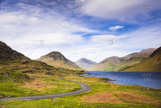Wastwater (Wast Water), a lake in the Wasdale Valley, Lake District National Park, UNESCO World Heritage Site, Cumbria, England, United Kingdom, Europe