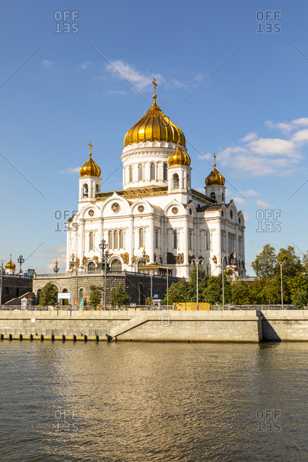 August 31, 2017: Cathedral of Christ the Saviour beside Moscow River, Moscow, Russia, Europe