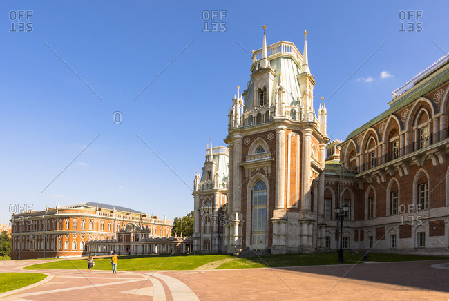 The Grand Palace, Tsaritsyno Park, Moscow, Russia, Europe