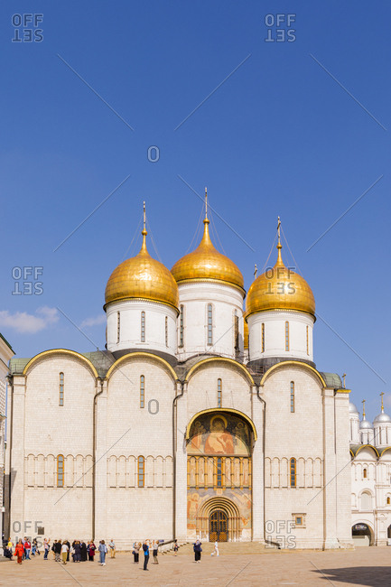 September 1, 2017: Church of the Twelve Apostles inside the Kremlin, UNESCO World Heritage Site, Moscow, Russia, Europe
