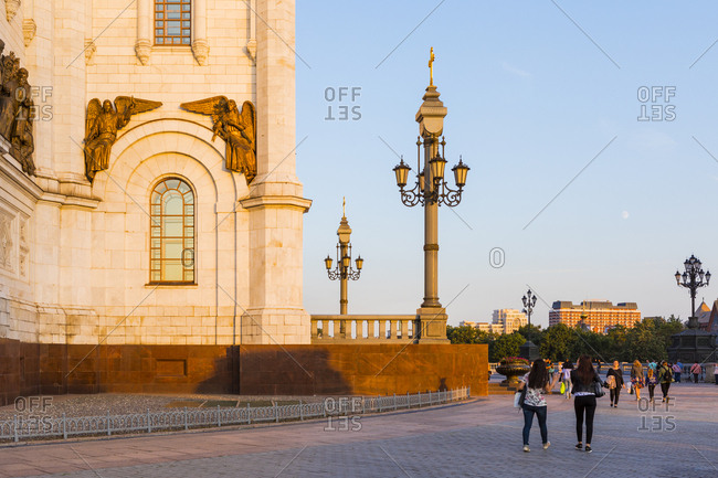 September 1, 2017: Cathedral of Christ the Saviour beside Moscow River, Moscow, Russia, Europe