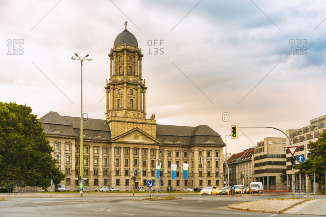 August 3, 2018: Berlin Wasserbetrieb (Berlin water supplying company) building at Alexander Platz, Berlin, Germany, Europe
