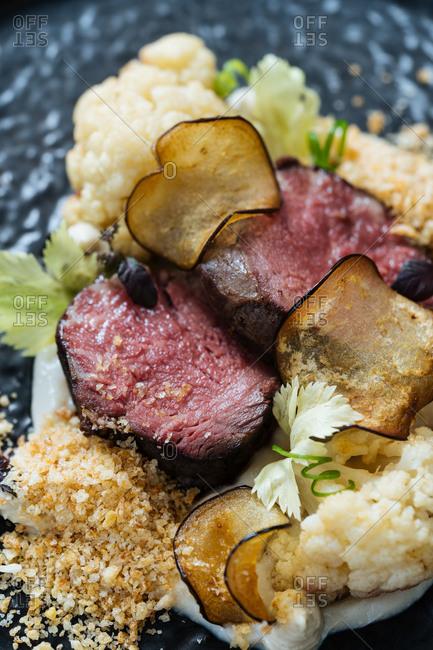 Gourmet meat dish