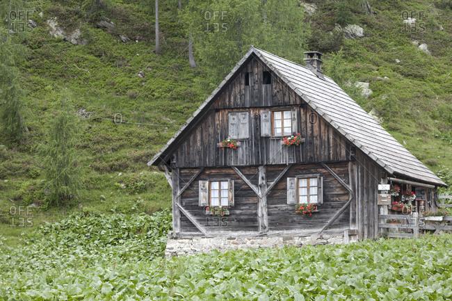 Alpine hut on the Nassfeld (town), Carinthia