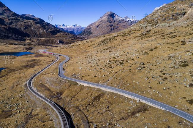 Bernina Pass, Engadin, Canton of Grisons, Switzerland