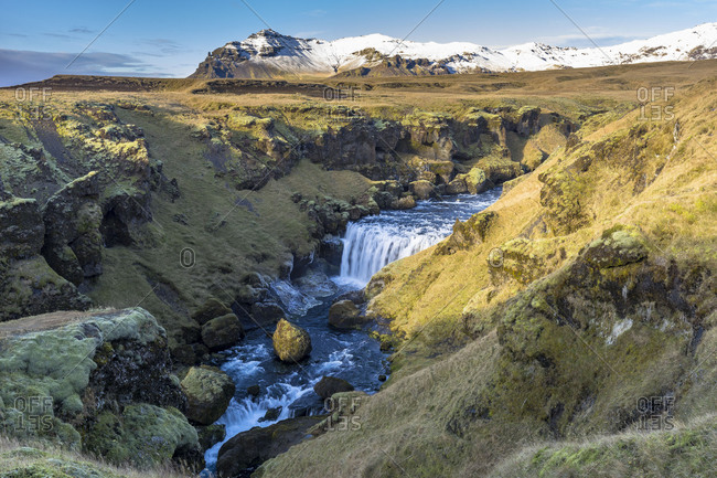 Europe, Northern Europe, Iceland, Sk�gar, Highlands, view to the impressive landscape on the Fimmv�rduhals trail