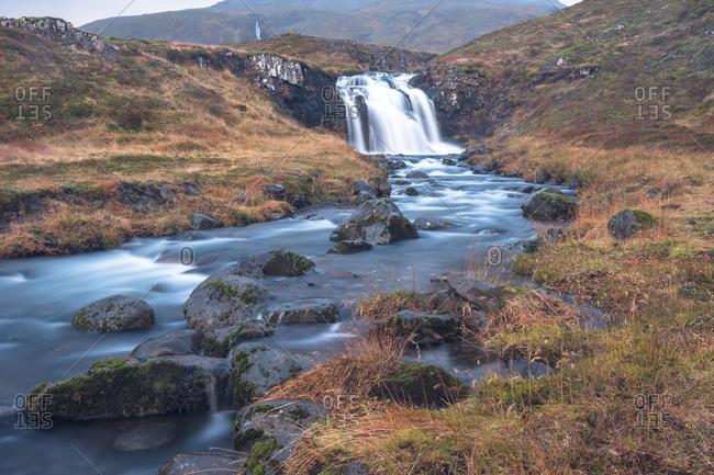 Europe, Northern Europe, Iceland, Snaefellsnes, Grundarfj�rdur, waterfall on the Snaefellsnes peninsula