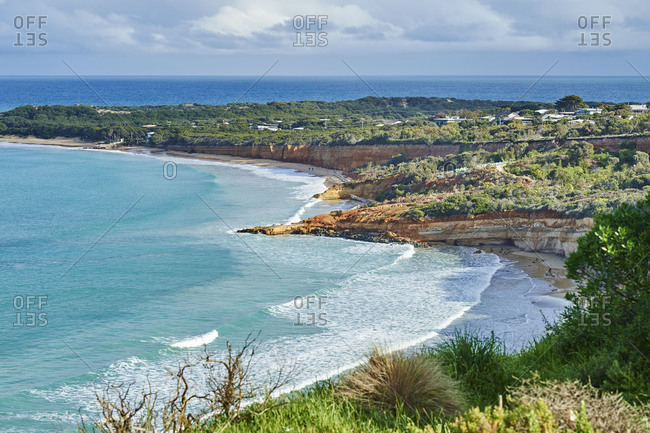 Coastal Landscape, Anglesey Beach, Spring, Great Ocean Road, Victoria, Australia, Oceania