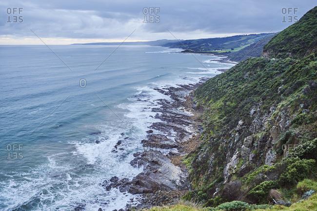 Coastal landscape near the Great Ocean Road in spring, Victoria, Australia, Oceania